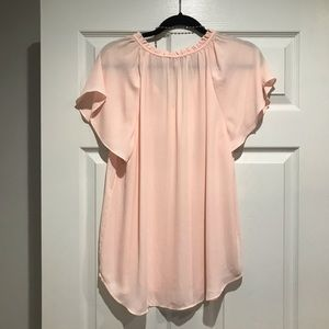 LOFT Tops - Light Pink Short Sleeve Blouse